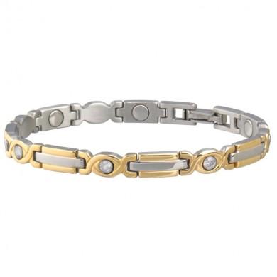 Picture of Sabona Women's Executive Two Tone Gem Magnetic Bracelet